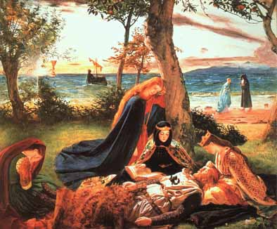 The death of king Arthur by James Archer