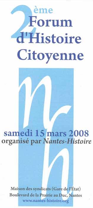 Forum 15 mars 2008
