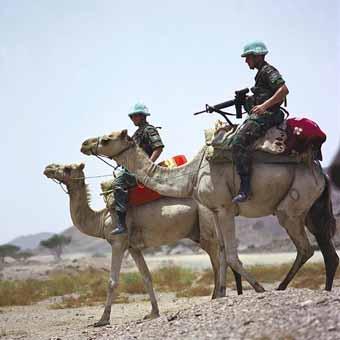 UN soldiers in Eritrea by Dawit Rezené World 66 Wikimédia commons