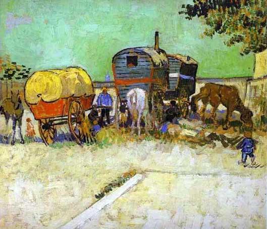 http://commons.wikimedia.org/wiki/File:Vincent_van_Gogh-_The_Caravans_-_Gypsy_Camp_near_Arles.JPG