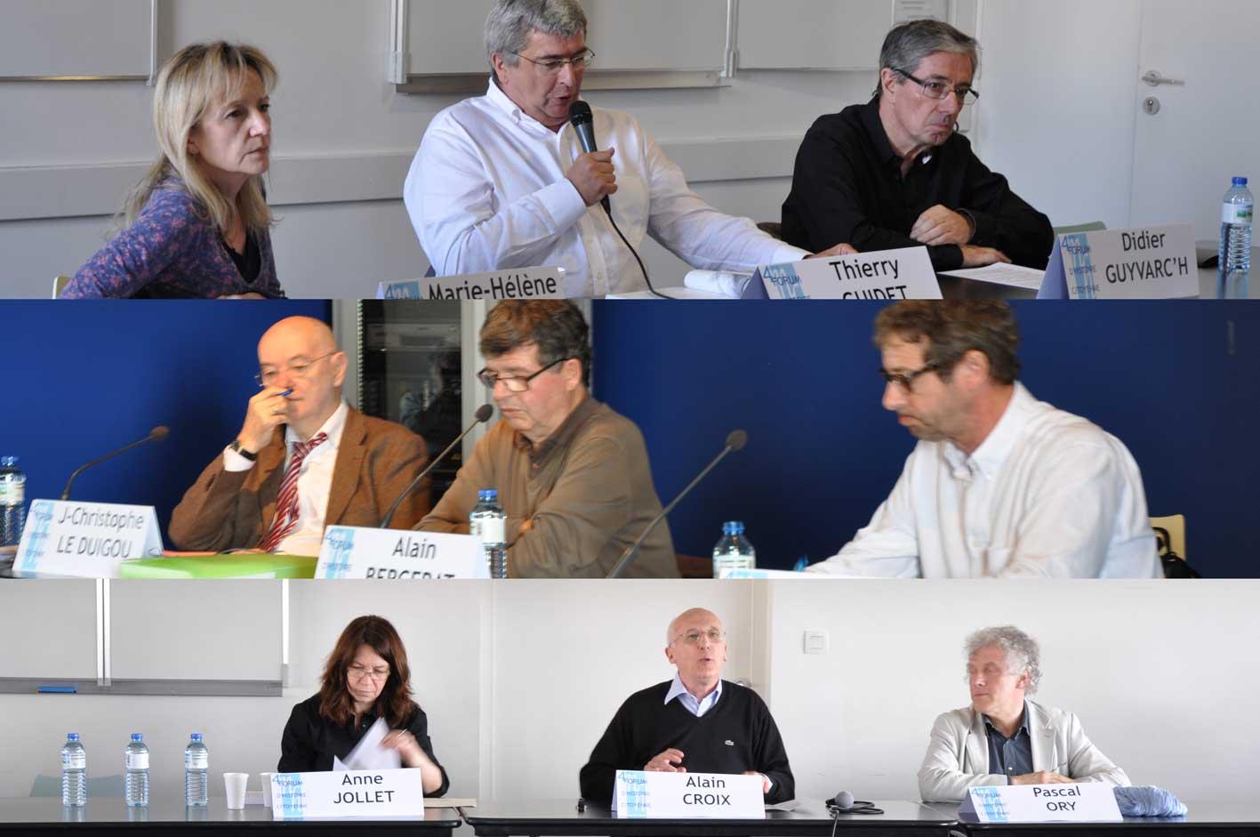 Marie-Hélène Jouzeau, Thierry Guidet, Didier Guyvarc'h, Jean-Christophe Le Duigou, Alain Bergerat, Jean-Paul Charaux, Anne Jollet, Alain Croix, Pascal Ory
