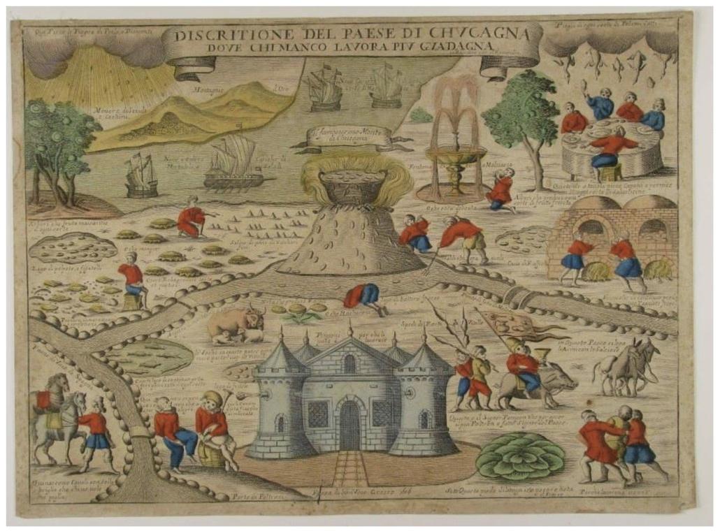 Discritione del paese di Chucagna, Remondini (éd.), vers 1680, Milan, Raccolta delle Stampe Achille Bertarelli.
